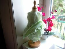 robe avec body baby dior vert doux 6 mois etat parfait haut doublee