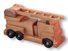 FIRE ENGINE LADDER TRUCK WOOD TOY  Amish Handmade Wood Waldorf Toys Games