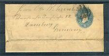 Ganzsachenumschlag (Streifband) USA One Cent nach Hamburg - b4192