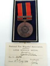 More details for national fire brigades association - long service medal . 10685