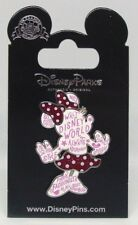 Disney Pins * MINNIE RED GLITTER BOW FASHION STATEMENT *  Single NEW on Card
