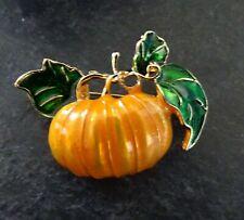 Halloween Pumpkin Squash Brooch Pin Brand New FREE P&P