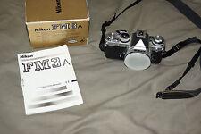 Nikon FM3A Chrome Camera Body Only, Exc.+ condition