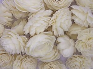 100 Mix Sola wood flowers 6cm Dia.
