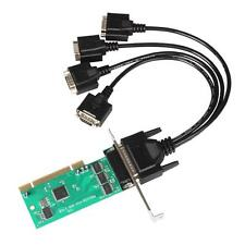PCI-E Express to 4 Ports Serial Card RS232 RS-232 DB9 COM Adapter w/ Low Bracket