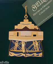 Thomas Point Light Chesapeake Bay Md1996 Shelia's 3D Historical Ornament Or019