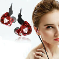 In Ear Gaming Earphone Sport Earbuds Running Headphone Wired Bass Headset 3.5mm