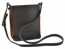 Authentic Burberry LONDON Leather Suede Shoulder Cross Body Bag Brown B9062