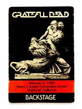 Grateful Dead Backstage Pass Samson vs The Lion Bible Kaiser Oakland 2/5/1989 CA