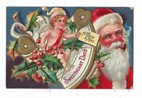 1909 Christmas Postcard Santa Claus Cupid Sweetheart Days Sweetheart Series No 1