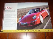 2005 Porsche 911 Carrera S Cabriolet - Original Article