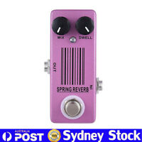 MOSKY Spring Reverb Guitar Effect Pedal Low Noise Near Bottomless Depth Sound