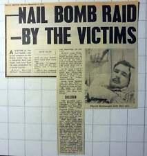 1970 Royal Marine Michael Wainwright Nail Bomb Victim In Ulster Riots