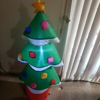Gemmy Airblown Lighted Inflatable Electric 4.5 ft Christmas Tree