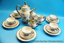 Altes Bavaria Waldershof Porzellan Kaffeeservice versilbert 6 Personen (J19)