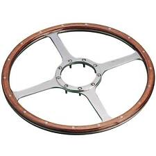 Moto-Lita Classic Race Car Steering Wheel - 15 Inch - 4 Spoke - Wood Rim