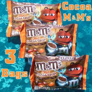 3 Bags M&M'S Creepy Cocoa Crisp Dark Chocolate Limited Edition 8 oz. Each, x6/21