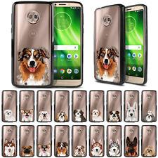 """For Motorola Moto G6 5.7"""" Animal Design Black Hybrid Bumper Clear Case Cover"""