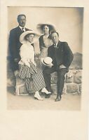 Two Dressed Up Couples Real Photo Postcard rppc