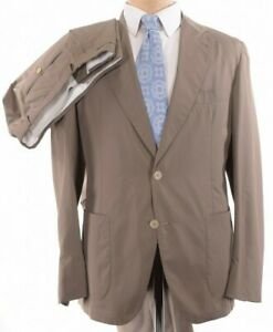 Belvest NWT Suit Size 42R (Fits 40R) Solid Khaki Tan Ultra Light Weight $1,895