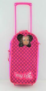 "My Life 18"" Doll Rolling Carrier Case Travel Bag fits American Girl & OG Dolls"