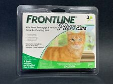 Frontline Plus Flea and Tick Treatment for Cats and Kittens 3 Doses , New, #S016