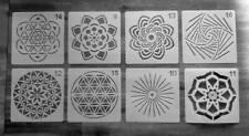 Blume des Lebens 8er Set Schablonen auch für Scrapbookf/Mixed Media Ornamente