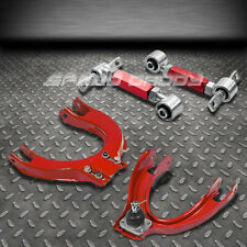 RED 4PC FRONT+REAR CAMBER CONTROL SUSPENSION KITS 88-91 HONDA CIVIC/CRX ED/EE