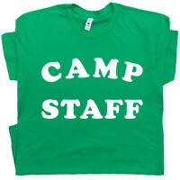 Camp Staff T Shirt Funny Camping Tee Vintage Retro Band Camp Director Counselor
