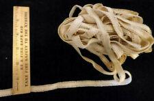 """Vintage/Antique Cotton Lace, Beige Insertion 14 Yards & 24"""""""