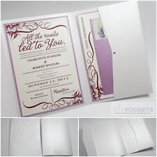 ICE WHITE SHIMMER RECTANGLE WEDDING INVITATION ENVELOPES POCKET POCKETFOLD 5 X 7