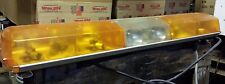 Star Signal Amber Lightbars Snow Plow Police Fire Lightbar 4 Rotators Work lts