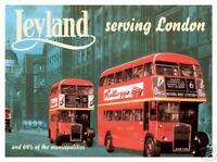 Insegna In Metallo Per Parete Leyland Bus Di Londra (Fd)