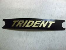 TRIUMPH T160 TRIDENT SIDE COVER BADGE DECAL GOLD ON BLACK SHORT 60-4569