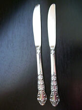National Stainless Japan - Two Dinner Knives - Scroll Pattern  (SIL129)