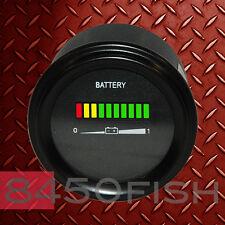 12V Battery indicator, meter, gauge for golfcart, boat, forklift, car