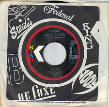 JAMES BROWN  I Cried / World Part 2  original 45 from 1971