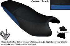 BLACK & ROYAL BLUE CUSTOM FITS KYMCO PULSAR 08-13 DUAL LEATHER SEAT COVER ONLY