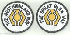 2 X HILL WALKING PATCHES SCOTLAND CREST FLAG WORLD EMBROIDERED PATCH BADGE