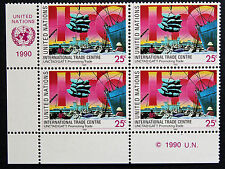 NATIONS-UNIS (new-york) timbre / stamp Yvert et Tellier n°569 x4 n** (Cyn13)