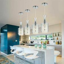 E27 LED Modern Crystal Ceiling Lights Hanging Pendant Lamp Kitchen Room Fixtures