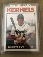 Mike Trout RC Minor League Rookie Card # 28 Cedar Rapids Kernels SP Angels