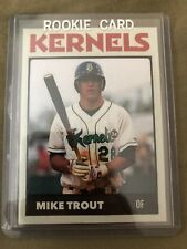 Mike Trout RC Minor League Rookie Card # 28 Cedar Rapids Kernels SP Angels