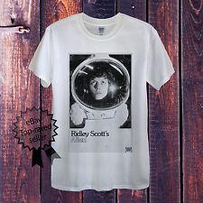 Alien Camiseta blanca gris hombre entallada unisex SIGOURNEY de punto