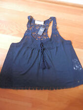 NWT Abercrombie & Fitch  Rebecca Cami Fashion Top  Navy Medium