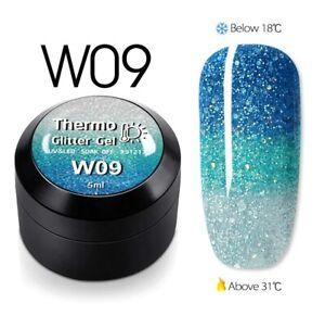 GDCOCO UV LED Nail Gel Nail Polish Soak off Varnish Base Top Colour Coat 5ML