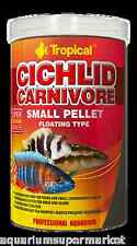 Tropical Cichlid Carnivore Small Pellets Floating 360g - Aussie Seller