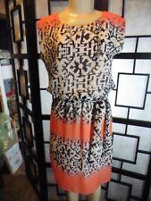 Women's EMMA & MICHELE Sleeveless One Loop Back Button Closure Dress Size S
