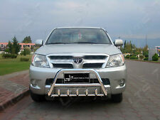 TOYOTA HILUX CHROME BULL BAR, AXLE NUDGE A-BAR 2006-2012 S. STEEL BRAND NEW
