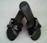 ITALIAN Shoemakers Women's Slip on Slide Sandals Black Marks/Flaws~Size 7.5